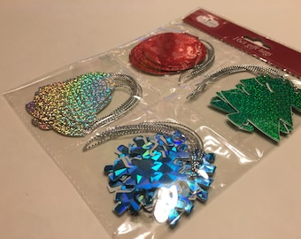 16 piece shinny gift tag set, 50 - 60 mm  (AA1)