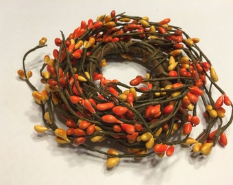 fall color orange and yellow candle ring, 4 1/2 inch (BR3)