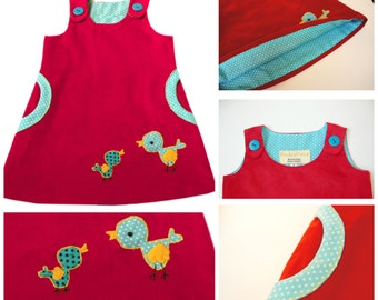 Pinafore with Pockets PDF Sewing Pattern - The Megan