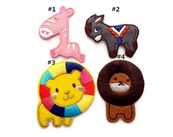 Clearance Sale-20% off Iron On Patch Embroidery Applique Sew On Applique Animal Applique Embroidery