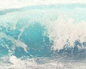 Sea Swell, Sea Photograph, Ocean Wave, Seascape, Surf, Beach Decor, Nature, Jersey Shore, sea bright NJ