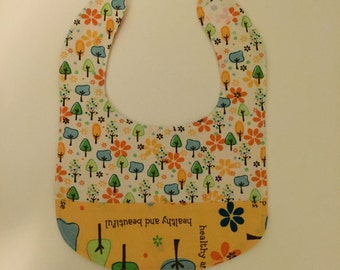 Baby Bib with Trees - Save the Trees - Hippie Baby