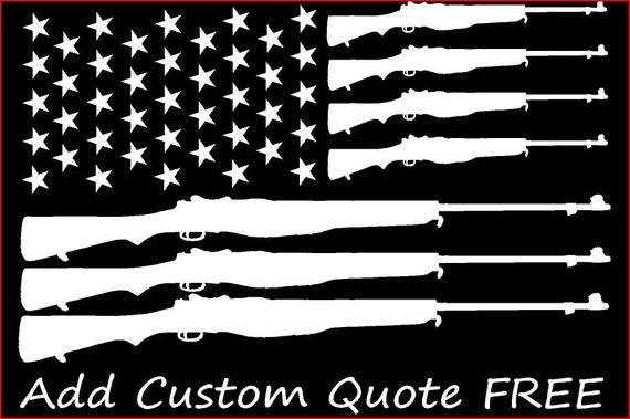 Custom Order American Flag Gun Flag Car Decal Car Window - Custom vinyl trailer decals