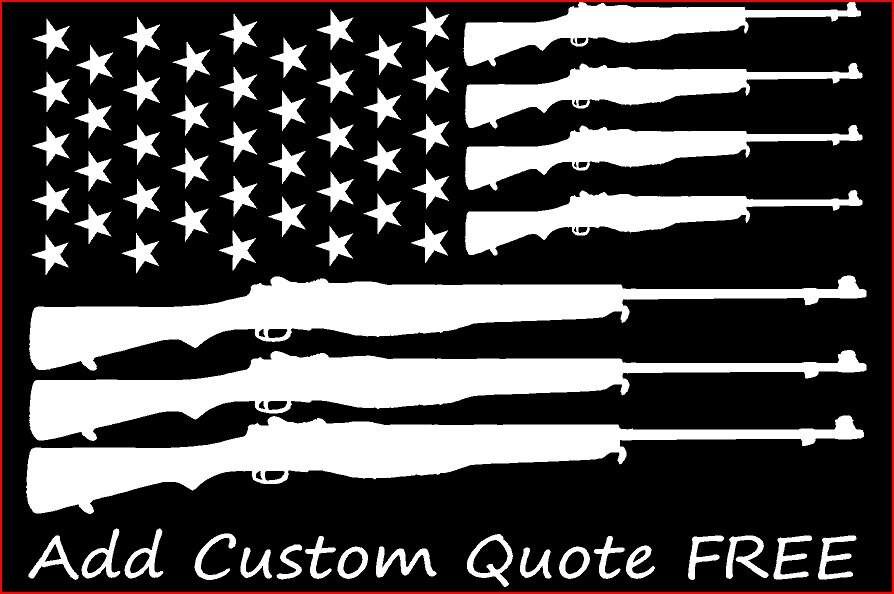 Custom Order American Flag Gun Flag Car Decal Car Window