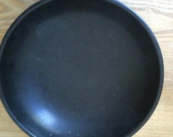 "SALE!!!-Mid Century Black SiLite Melamine Serving Bowl, Melamine 10"" Serving Bowl"