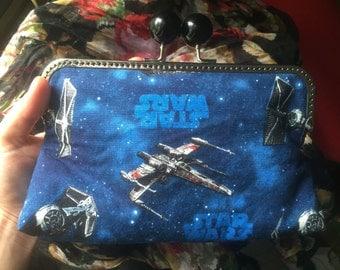 Star Wars fabric clutch frame purse