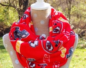 Kansas City Chiefs Fleece NFL Infinity Scarf Adult & Child Sizes Free Shipping 1 Day Only