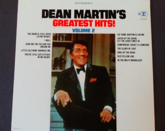"""Dean Martin's Greatest Hits Volume 2 - """"King of the Road"""" - """"The Glory of Love"""" - Original Reprise 1968 - Vintage Vinyl LP Record Album"""
