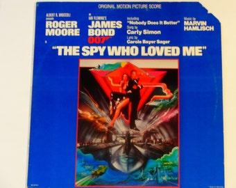 "The Spy Who Loved Me - ""Nobody Does It Better"" - Motion Picture Score - James Bond - Marvin Hamlisch - UA 1977 - Vinyl LP Record Album"