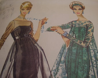 Vintage 1950's McCall's 4779 Sheath and Harem Overdress Sewing Pattern, Size 12, Bust 32