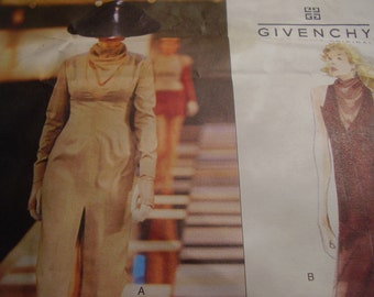 Vogue Paris Original 2248 Givenchy Alexander McQueen Dress Sewing Pattern, Size 14-16-18, Bust 36-38-40