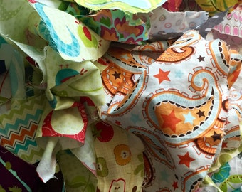 Cotton Fabric Scrap Bag