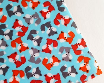 SALE 8x11 Fox Print Shiny Vinyl Fabric Sheet