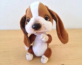 To Order Basset-hound Hugo, Collectible Artist Teddy Bear, teddy dog, OOAK Jointed Artist Teddy