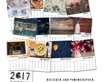 PRINTABLE 2017 wall calendar, Photography calendar, Digital photo calendar, Printable calendar, DIY Monthly Calendar, A4 calendar, 11/8,5 in