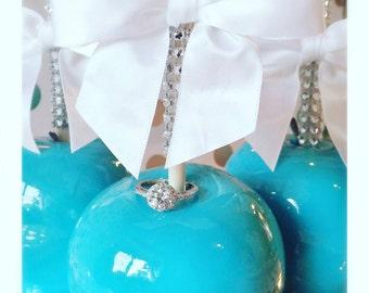 Blue Candy Apples Cinderella Princess Gorgeous!!! She'll say I do!!!