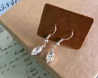 Bridal earrings - drop earrings - Bridal Jewellery - Wedding Earrings, -Statement jewellery - Stirling silver - Swarovski