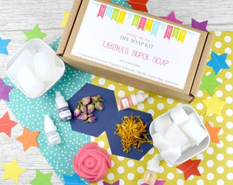 Soap Making Craft Kit, DIY Make your own Soap Kit, Personalised Craft kit, SLS FREE