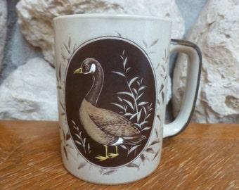 OTAGIRI mug bird in reeds sticker still there hand painted
