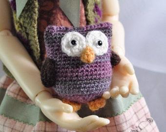 "Miniature owl, BJD, MSD doll toy, doll pet - ""Honesty"""