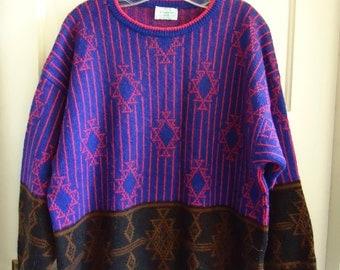Vintage 80s BENETTON WOOL Sweater sz M/L