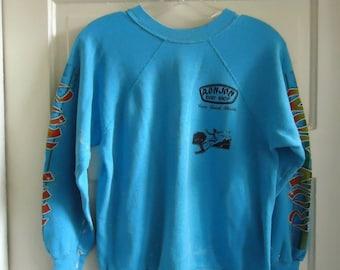 Vintage 80s RON JON Surf Shop Paint Splattered Crewneck Sweatshirt sz S