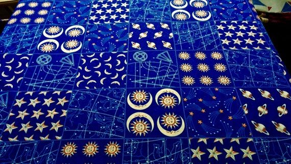 Space theme quilting fabric by fabric traditions 3 yards x for Space themed fabric