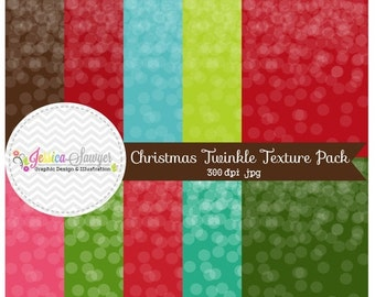 80% OFF - INSTANT DOWNLOAD, christmas twinkle texture backgrounds, textured papers for commercial or personal use, scrapbooking
