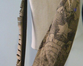Comic Book Hero Upcycled/Recycled Tshirt Yoga Mat Bag