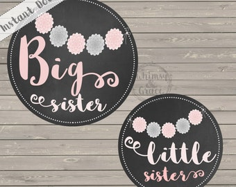 Sister Stickers - INSTANT DOWNLOAD - DIY printable - Sale! 25% off with code