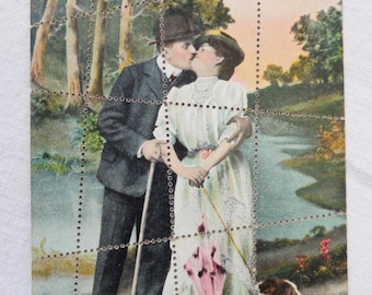 Vintage Postcard Picture Puzzle Post Card Germany With Envelope