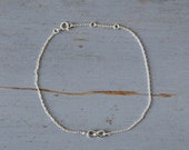 Silver Infinity Bracelet - Sterling Silver Infinity Symbol on Adjustable Chain Link Bracelet - Lovely Gift - Valentines Day