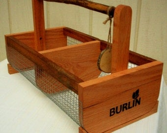 Storage Bin (BURLIN)- Basket, Picnic Basket, Hod Basket, Vegetable Basket- Garden Basket-Large Size Bin