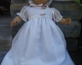 15 or 16 inch doll such as American Girl  Bitty Baby Baptism Christening dress by Project Funway on Etsy