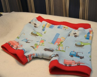 Emergency vehicles boys boxer briefs, firetrucks, ambulences, helicopters, tow trucks, in boys sizes and toddler sizes