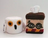 SALE! Harry Potter and Hedwig the Owl Themed Tissue Box And Toilet Paper Roll Cozy Decor