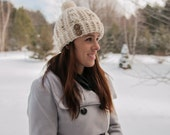 Warm and Cozy Women's Crochet Cable Hat - Women's Winter Hat - Adult woman winter hat