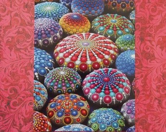 POSTCARD- mandala collection postcard by Elspeth McLean