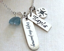Inspirational Jewelry Graduation Graduation Gift 2015 College Graduation Gift Enjoy the journey Travel Poetry Personalized G30
