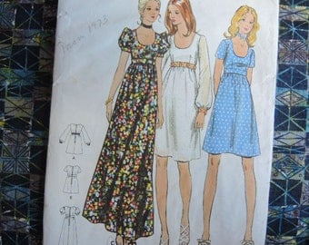 vintage 1970s Butterick sewing pattern 6175  junior dress size 9