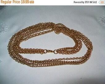 50% OFF Goldtone multistrand chain necklace, vintage goldtone necklace