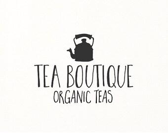 tea coffee logo cafe hand drawn vintage organic boutique premade - Logo Design #716