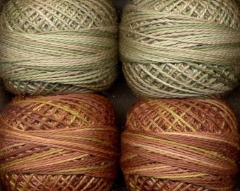 Valdani Size 8 Perle Cotton Embroidery Thread - Two at Harvest