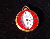 American Heritage Swiss Made Pocket Watch Style Pendant, Mint Condition, Winds Up