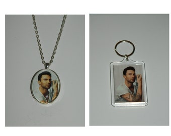 Adam Levine Glass Pendant Necklace and/ or Keychain