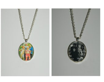 Abba Glass Pendant Necklace choice of images