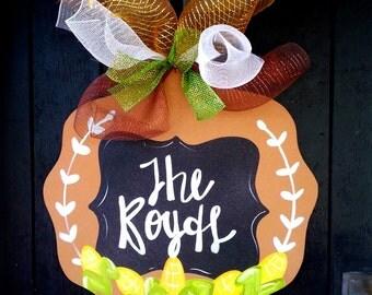 Thanksgiving Door Hanger, Thanksgiving Wreath, Door Decor, Thanksgiving Decor, Door Decoration