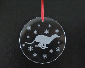 Greyhound Ornament - Whippet Galgo - Christmas Ornament