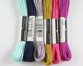 COSMO Embroidery Floss Set - Moroccan Moth | 6 Skiens Embroidery Thread Lecien COSMO Japanese Cotton Thread for Cross Stitch Embroidery