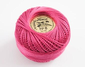 Perle Cotton Thread   Finca Presencia Pearl Cotton, Embroidery Thread - Cyclamen Pink (2333)